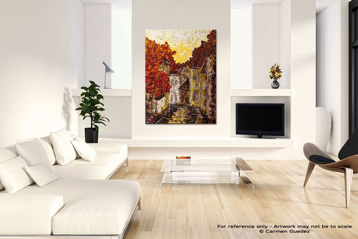Old Country Neutral Wall Abstract Painting Living Room Id55