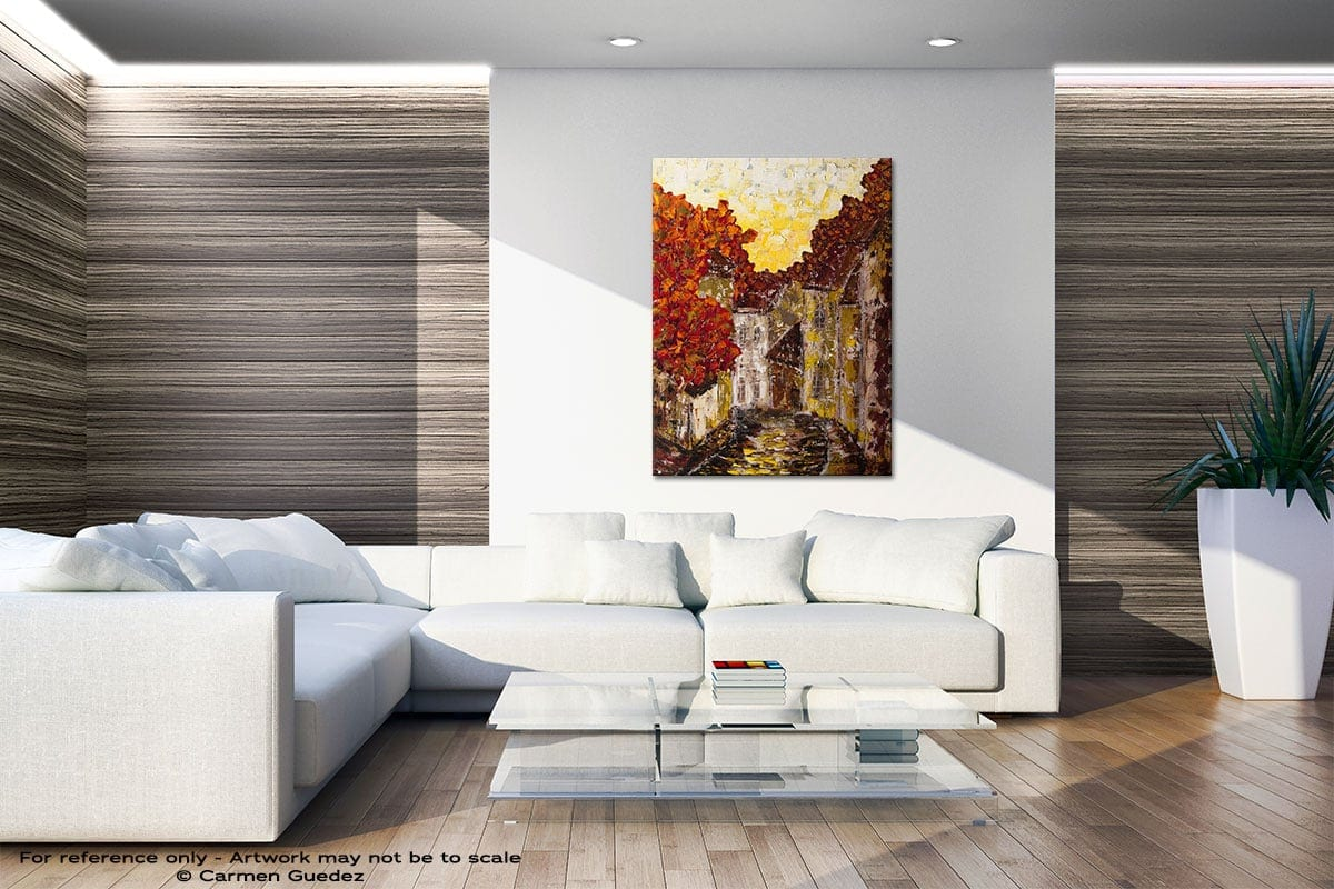 Old Country Original Gray Wall Abstract Art Living Room Id56
