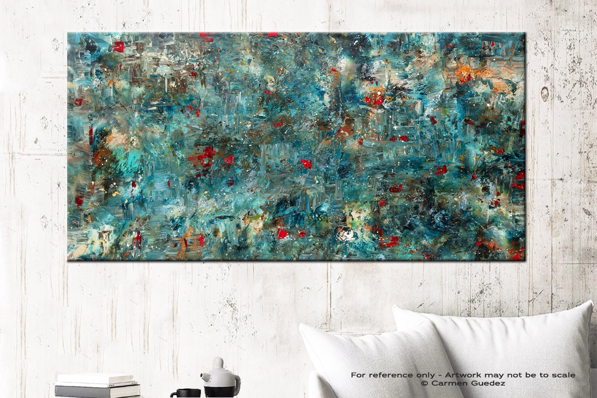 Once Upon A Dream Abstract Art Canvas Painting Id72
