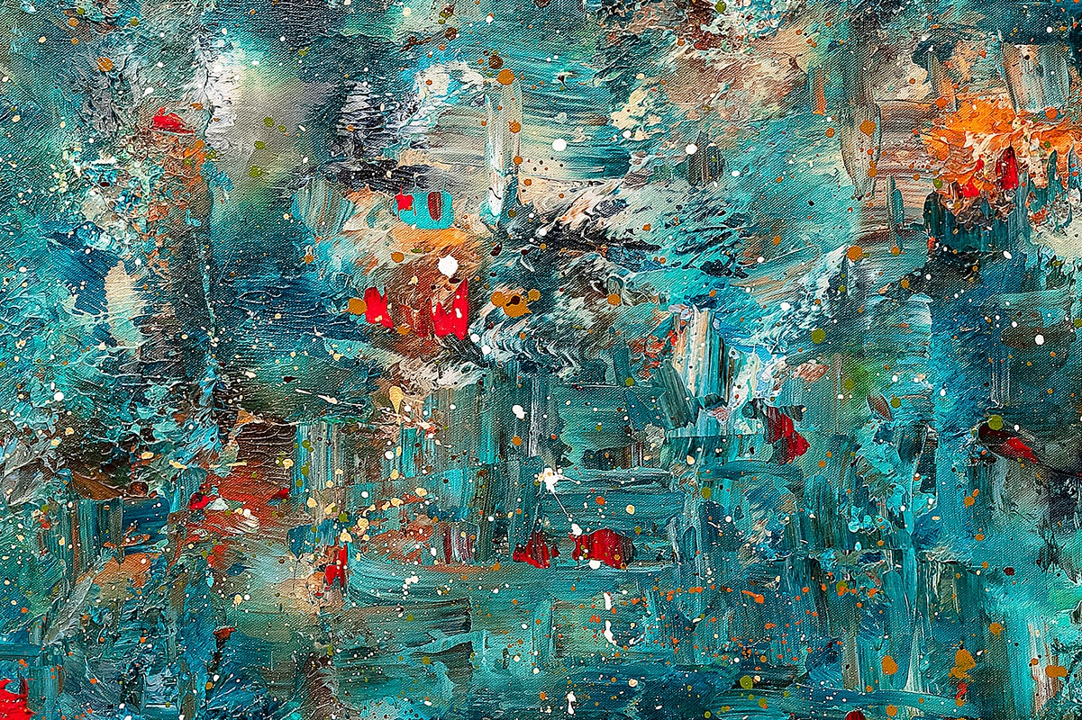 Once Upon A Dream Abstract Art Painting Close Up