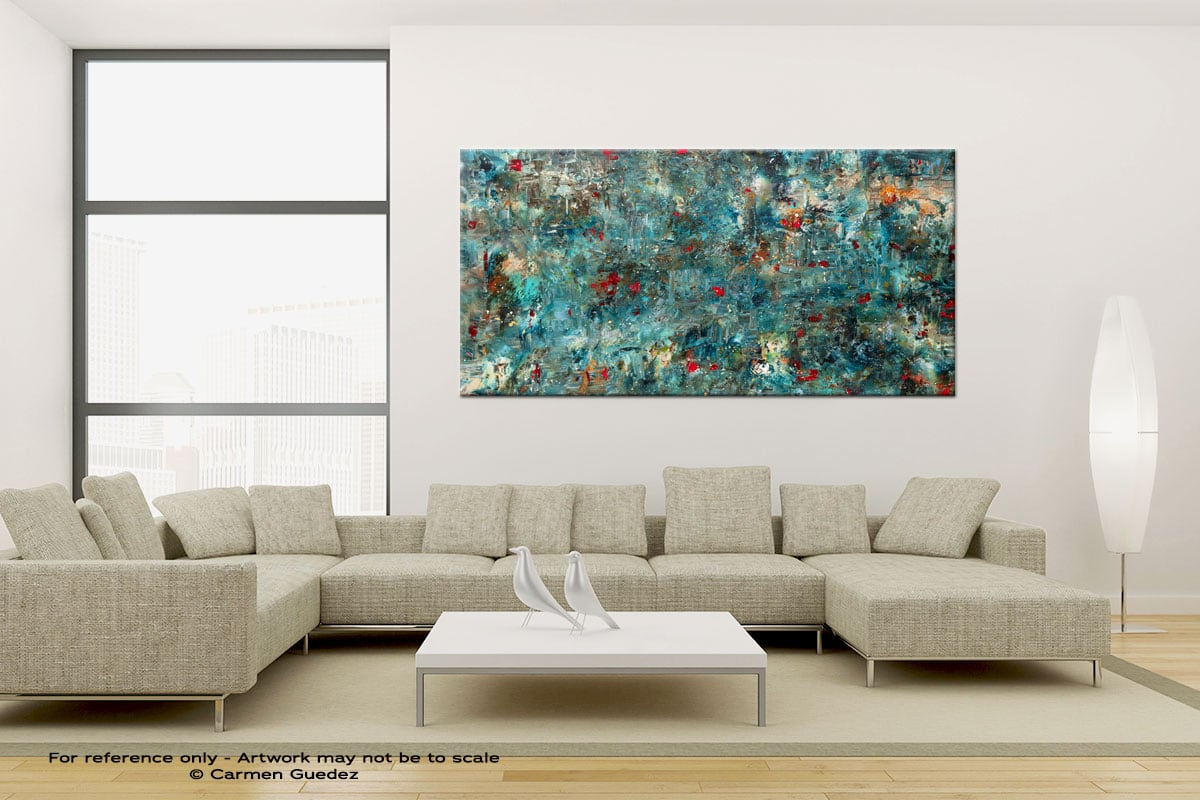 Once Upon A Dream Large Canvas Abstract Painting Id6