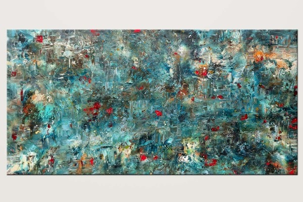 Once Upon A Dream Original Large Abstract Art V1 Id80