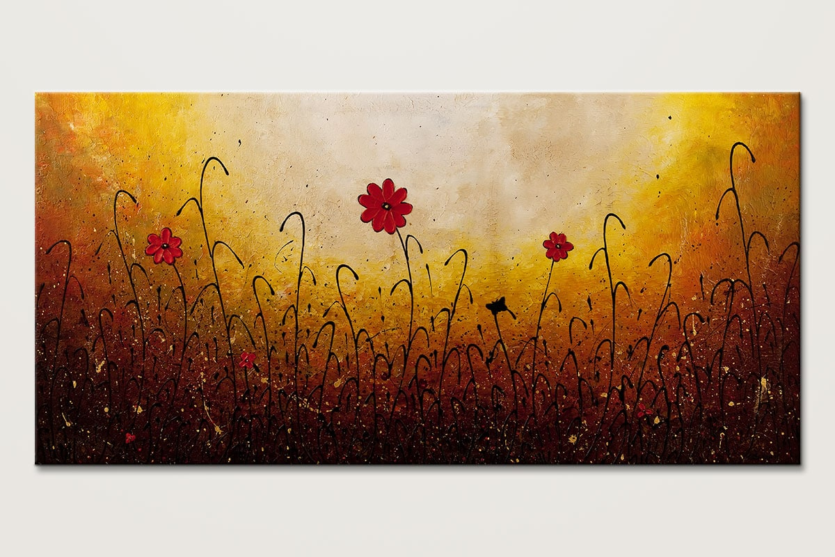 One Serenade Floral Abstract Art Painting Id80