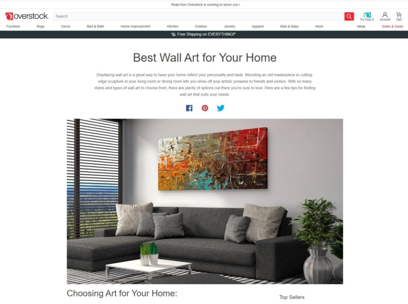Best Wall Art for your Home - Overstock. Safe And Sound Abstract Art Painting by Carmen Guedez