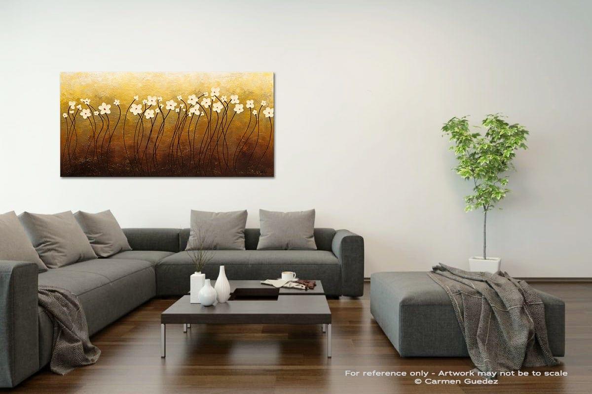 Paraiso De Flores Acrylic Gray Wall Art Painting Id34