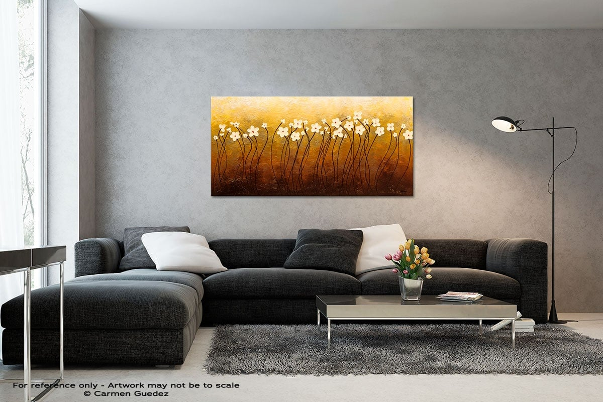 Paraiso De Flores Black And White Wall Abstract Art Painting Id70