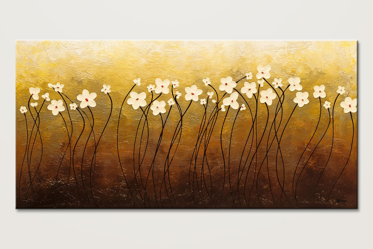 Paraiso de Flores - Abstract Art Painting Image by Carmen Guedez