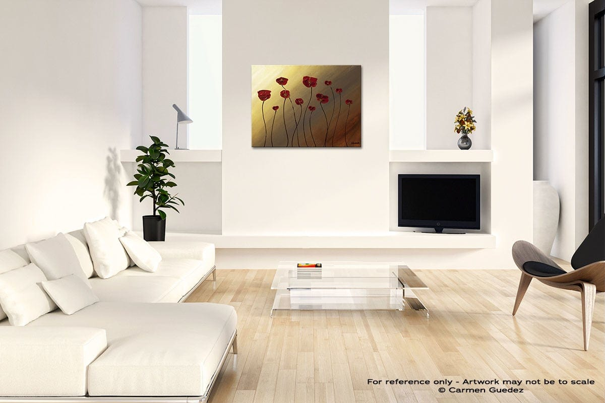 Passion Pour Les Fleurs Acrylic Abstract Art Black And White Room Id63