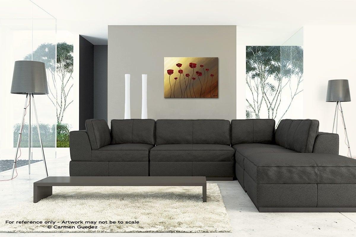 Passion Pour Les Fleurs Original Modern Canvas Abstract Art Id66