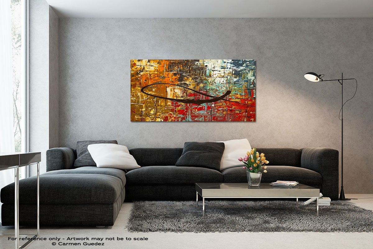Peace On Earth Black And White Wall Abstract Art Painting Id70