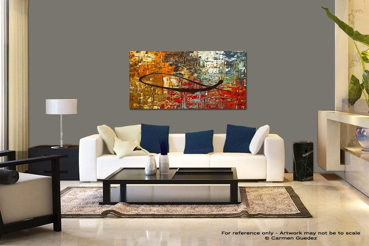 Peace On Earth Modern Abstract Art Painting Living Room Id37