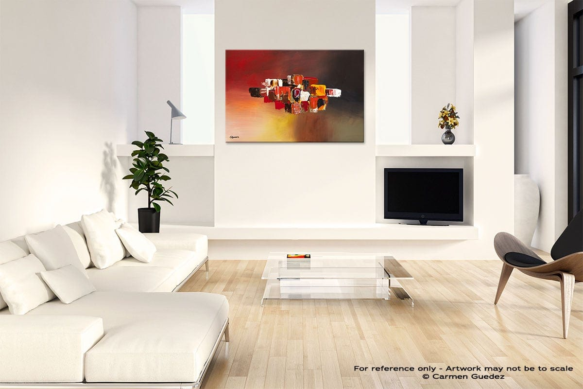 Perpetual Abstract Art Painting Interior Living Room Design Id60