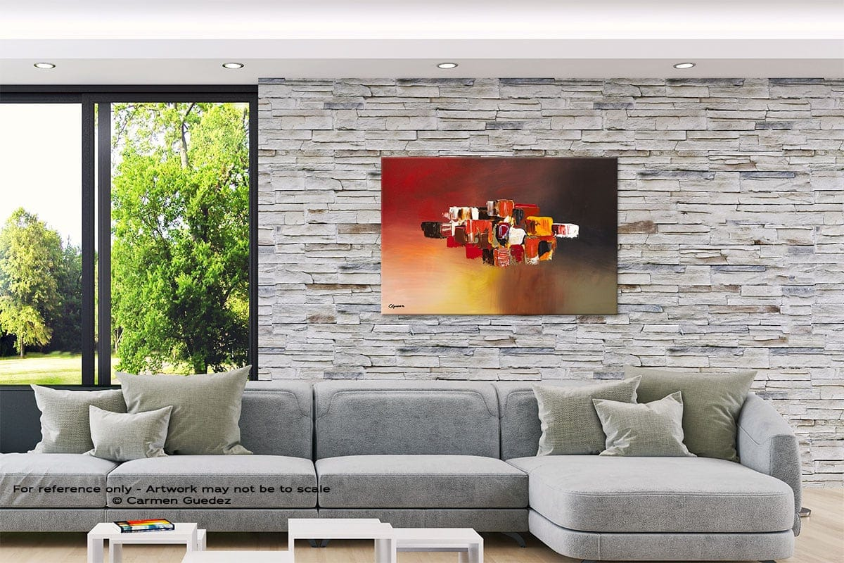 Perpetual Original Abstract Painting On Canvas Id62