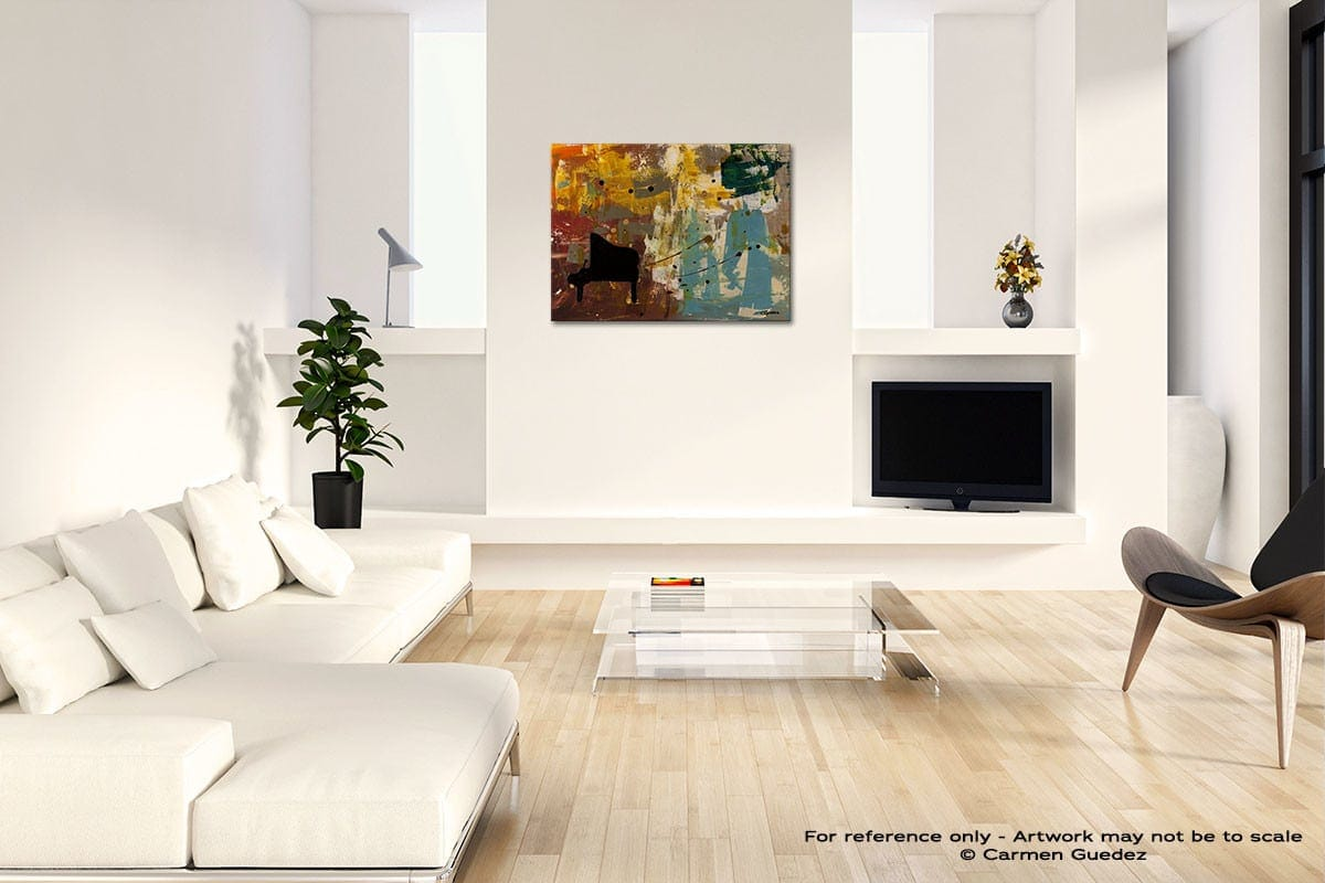Piano Concerto Acrylic Abstract Art Black And White Room Id63