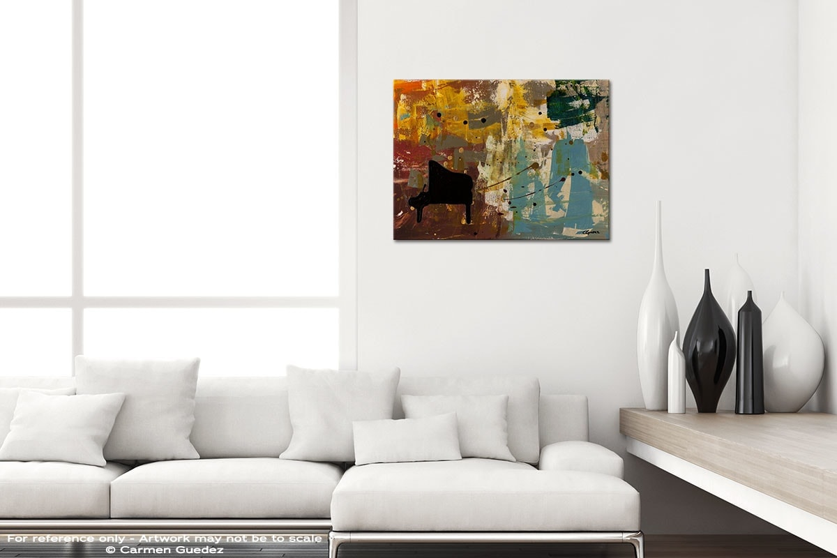 Piano Concerto Black And White Home Design Abstract Art Id64