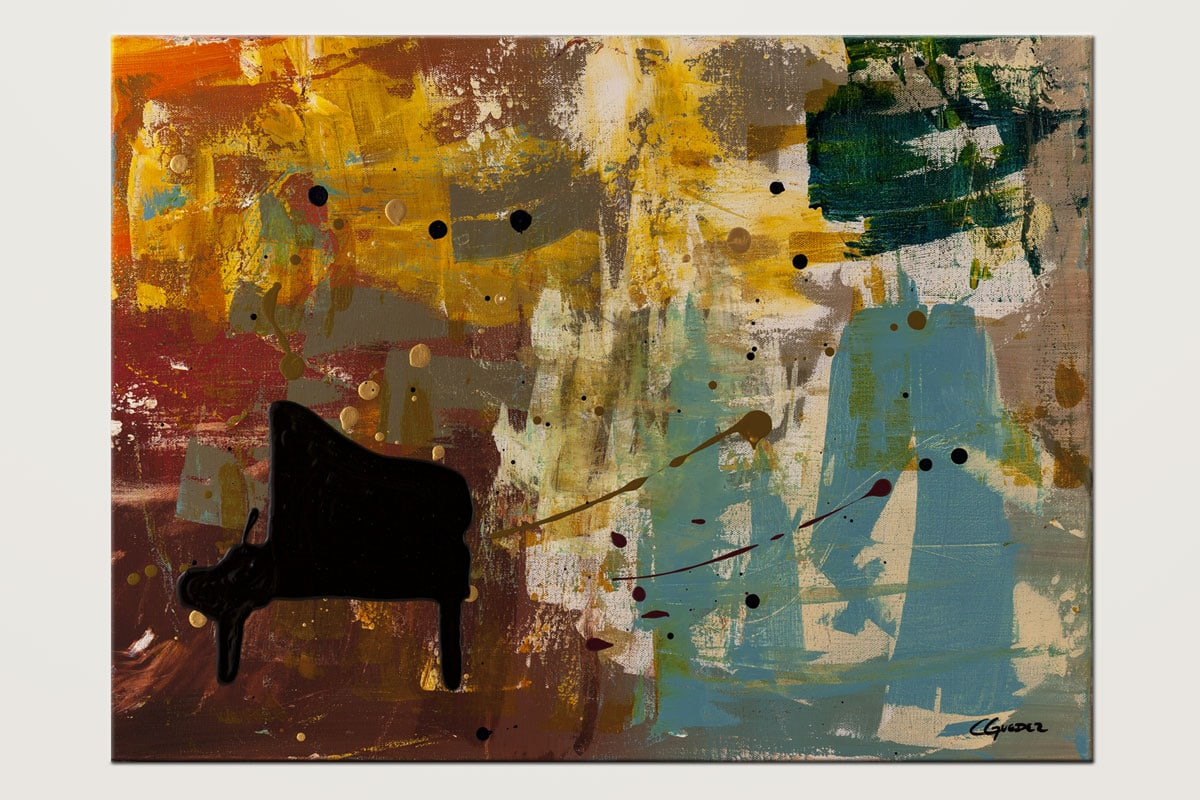 Piano Concerto Modern Abstract Art Painting Id80