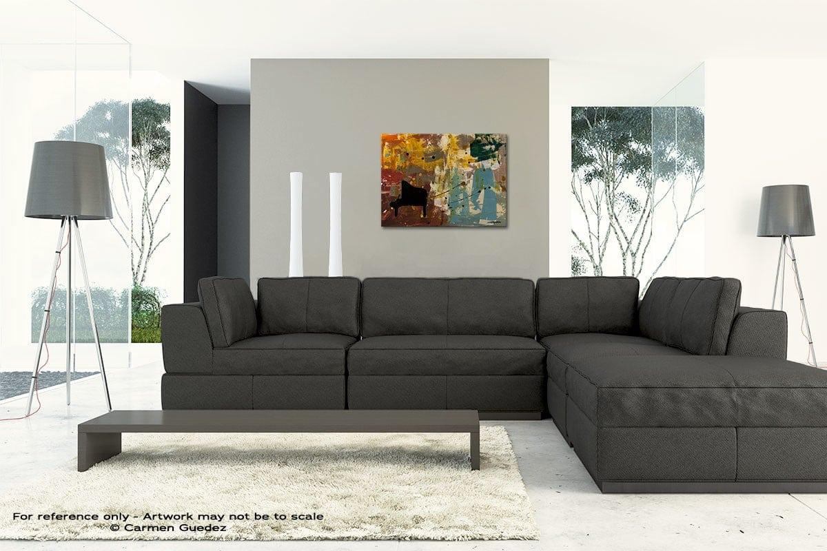 Piano Concerto Original Modern Canvas Abstract Art Id66