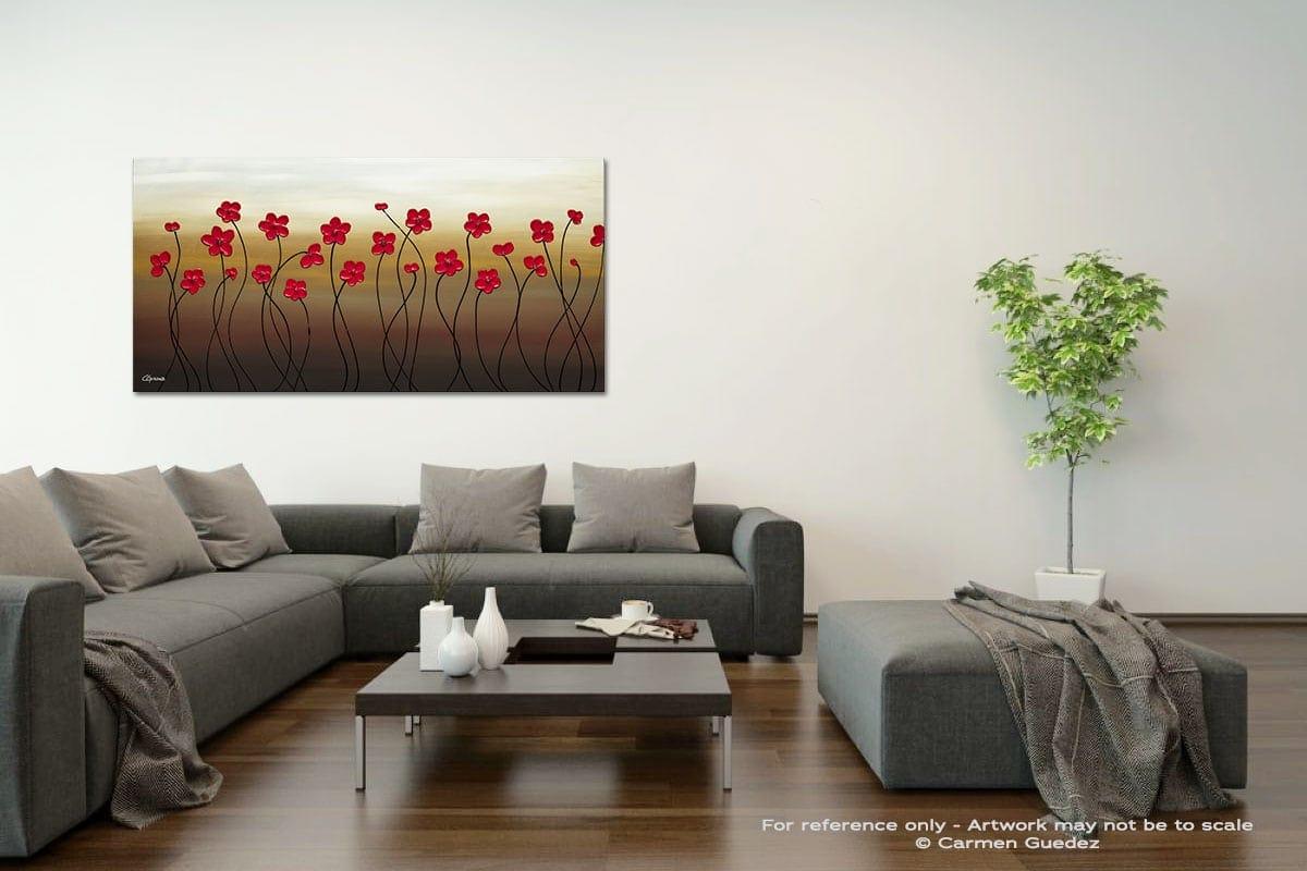 Playful Meadow Acrylic Gray Wall Art Painting Id34