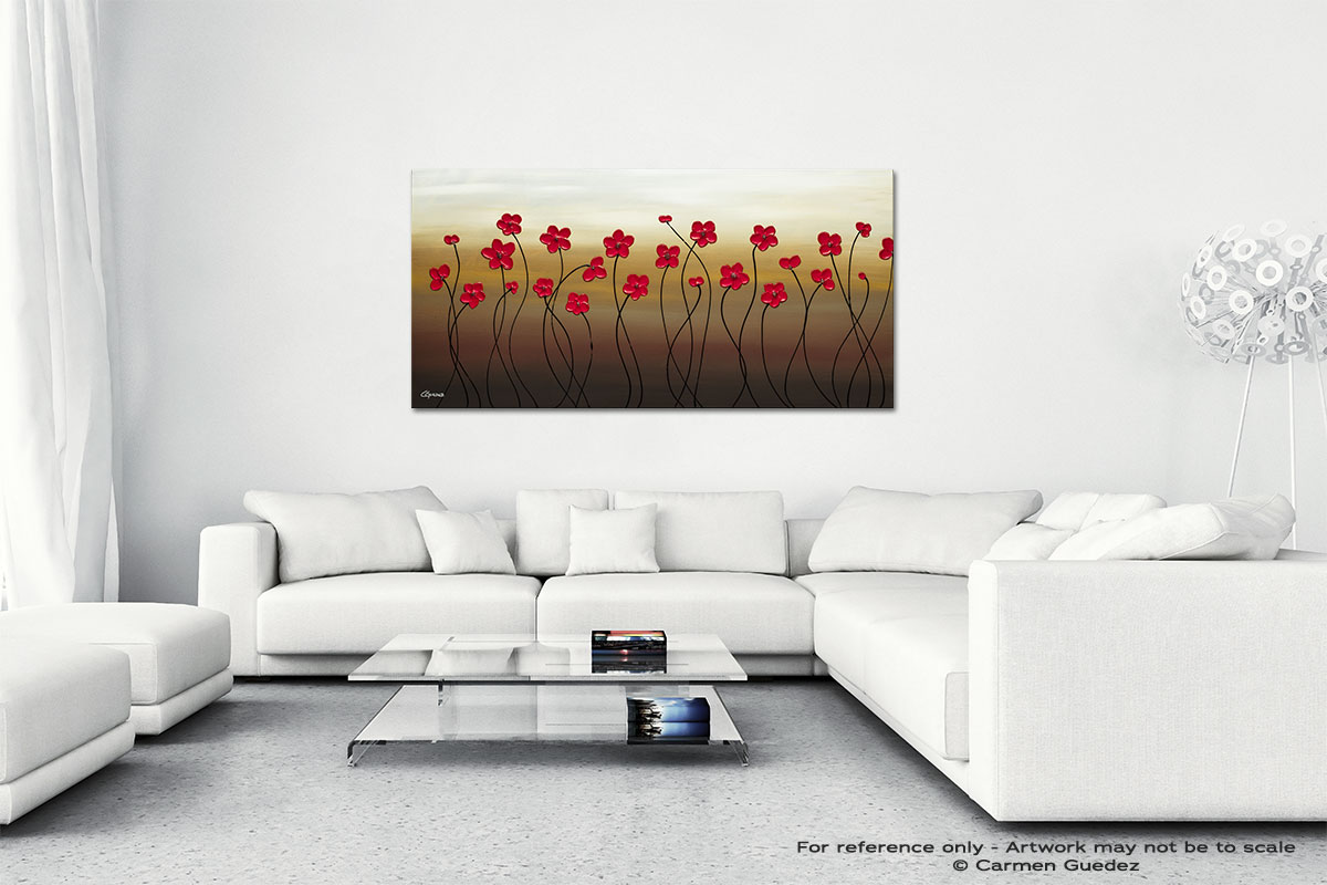 Playful Meadow Wall Art Canvas Painting Id40