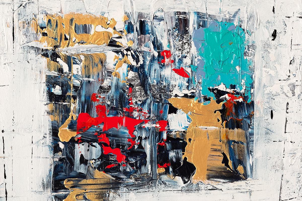 Precious Moments Abstract Art Painting Close Up