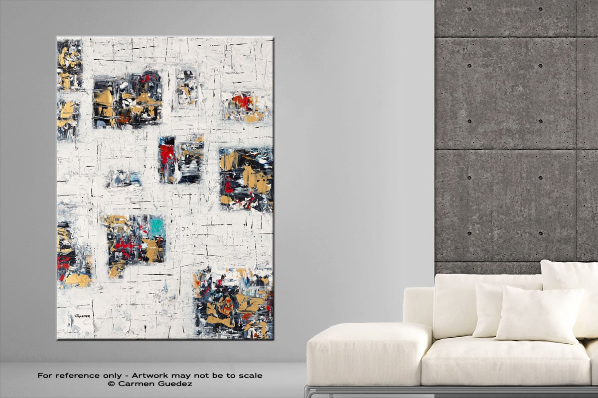 Precious Moments Vertical Abstract Art Painting Large Id76