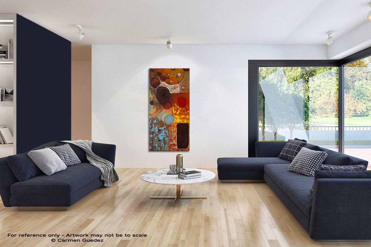 Prestige Original Vertical Abstract Art Id42