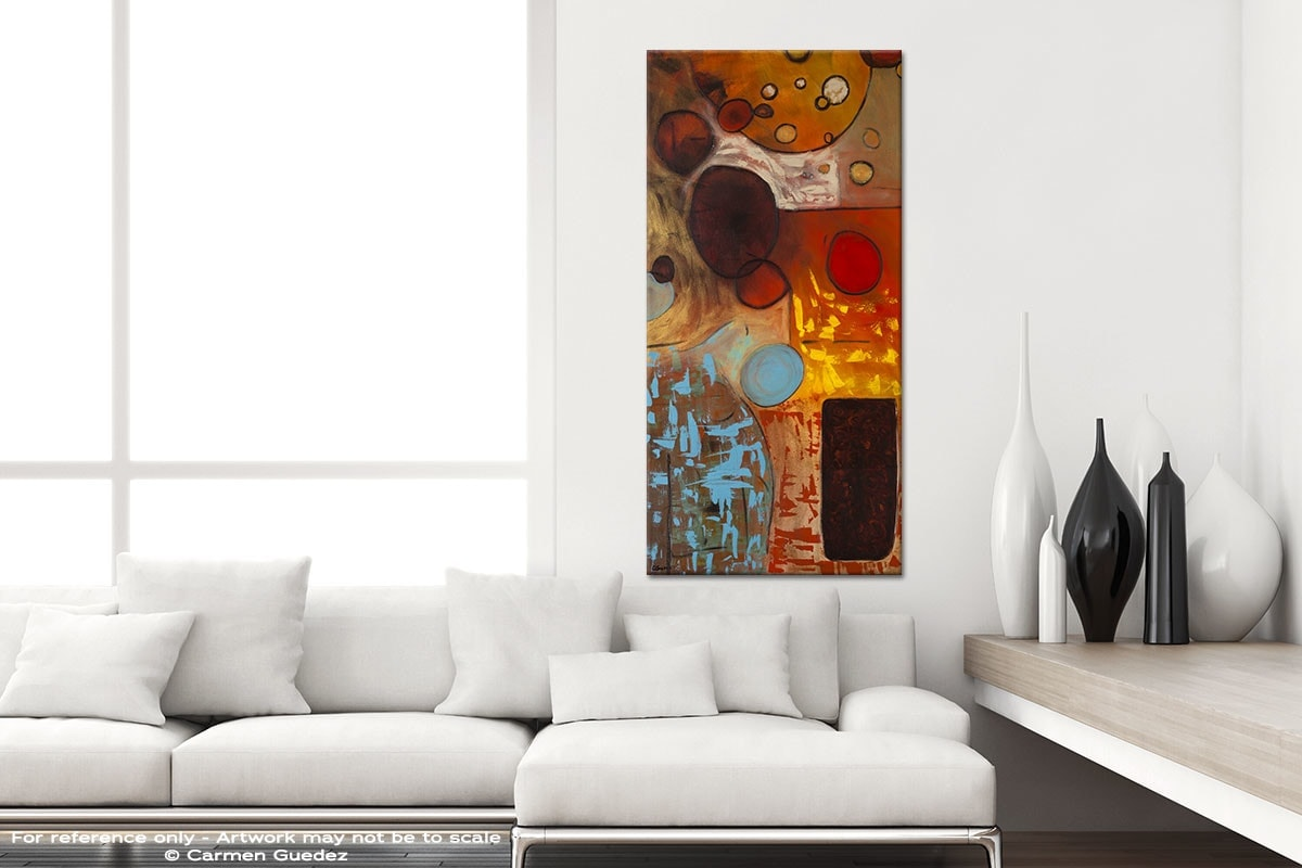 Prestige Vertical Abstract Art Canvas Painting Id44