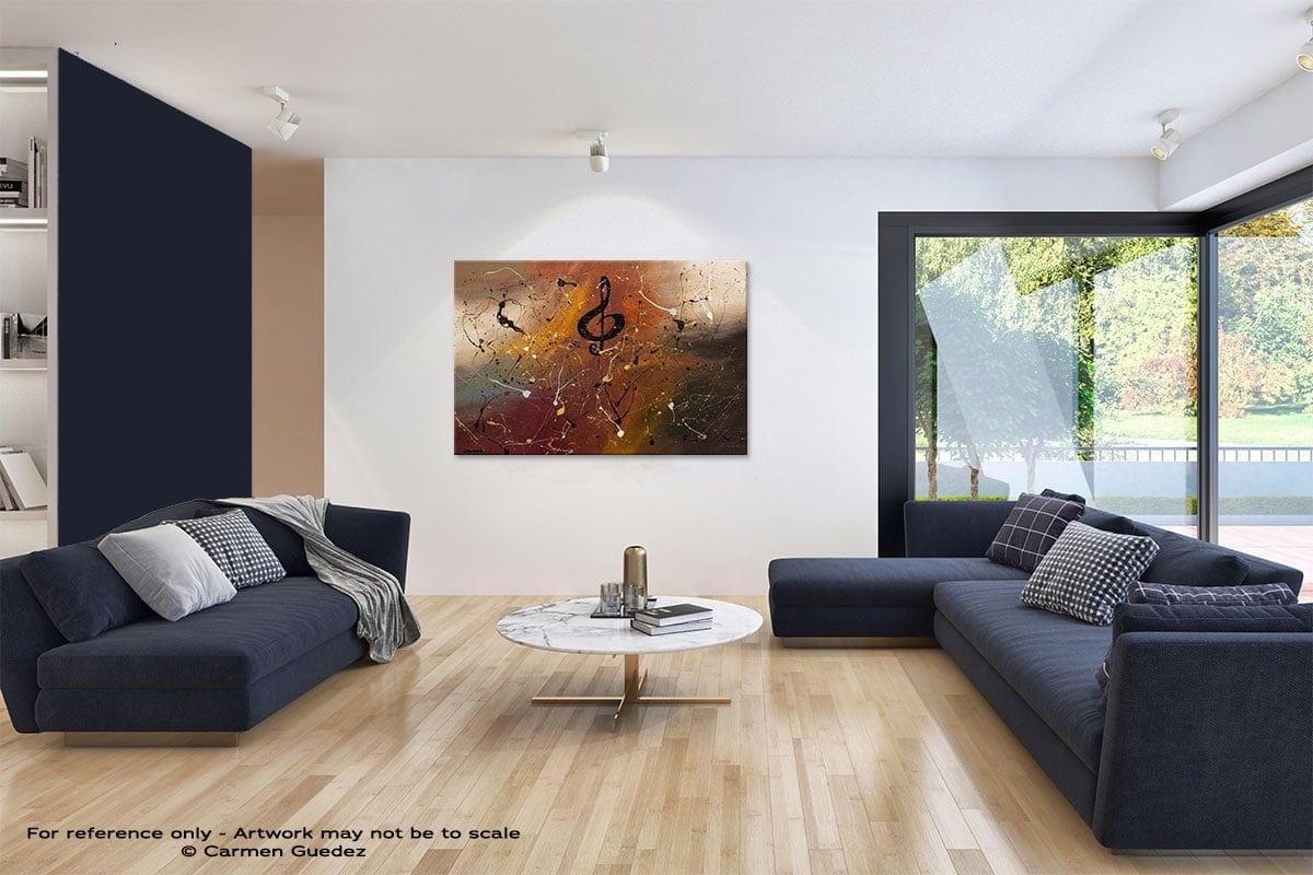 Presto Abstract Art Blue Interior Home Id59