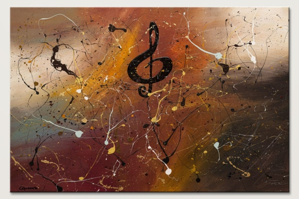 Presto Music Abstract Painting Id80