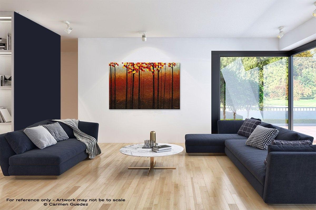 Primavera Abstract Art Blue Interior Home Id59
