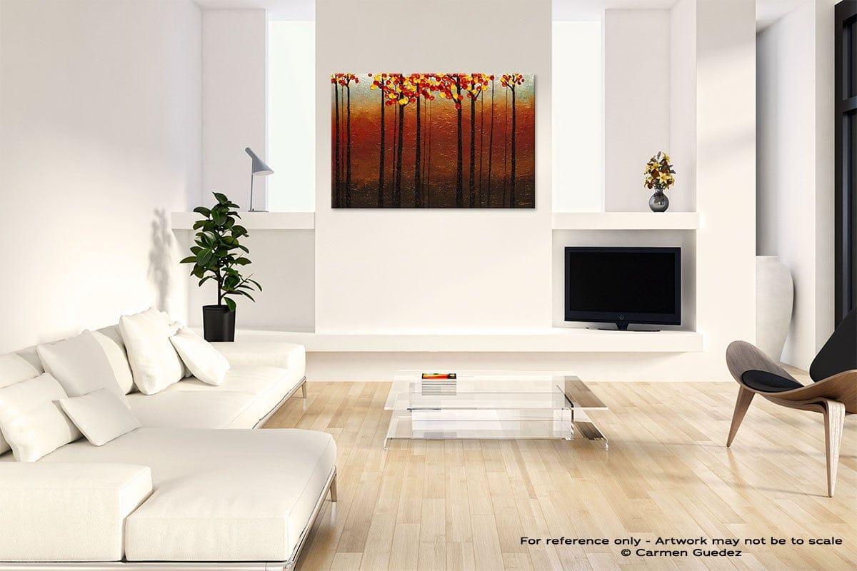 Primavera Abstract Art Painting Interior Living Room Design Id60