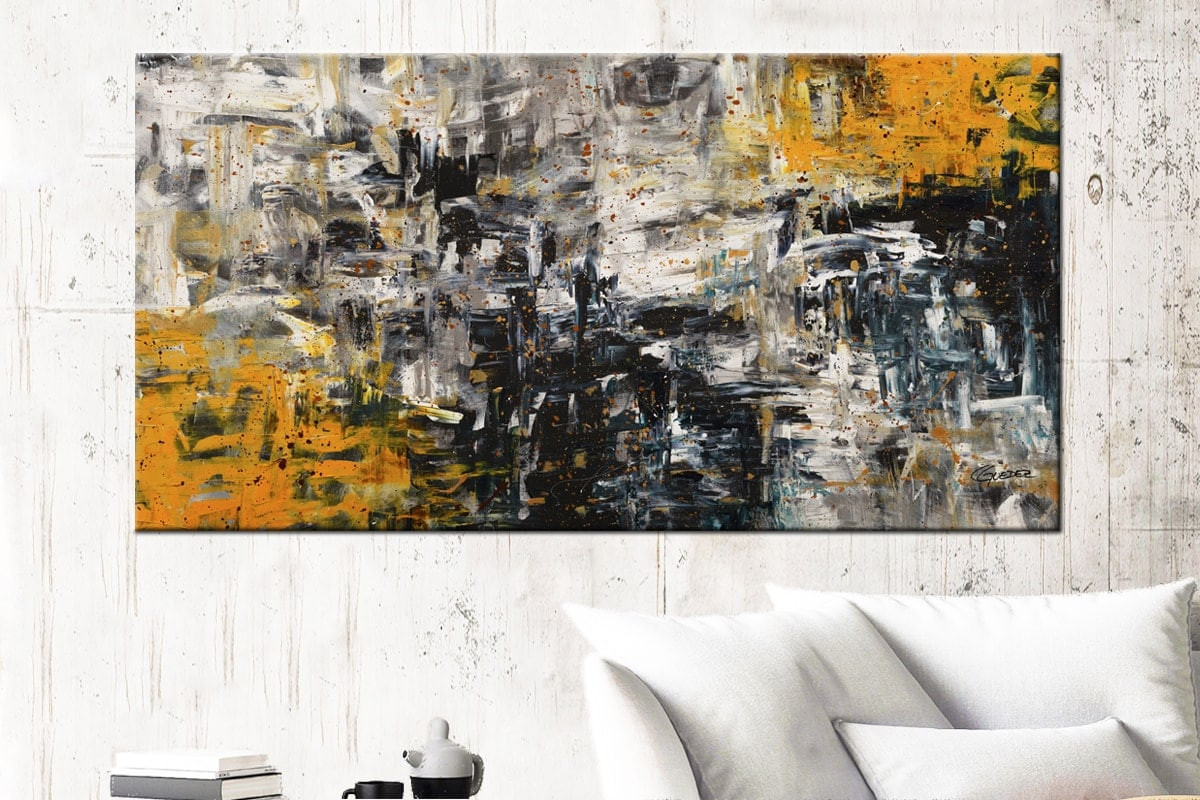 Progression Abstract Art Canvas Painting Id72