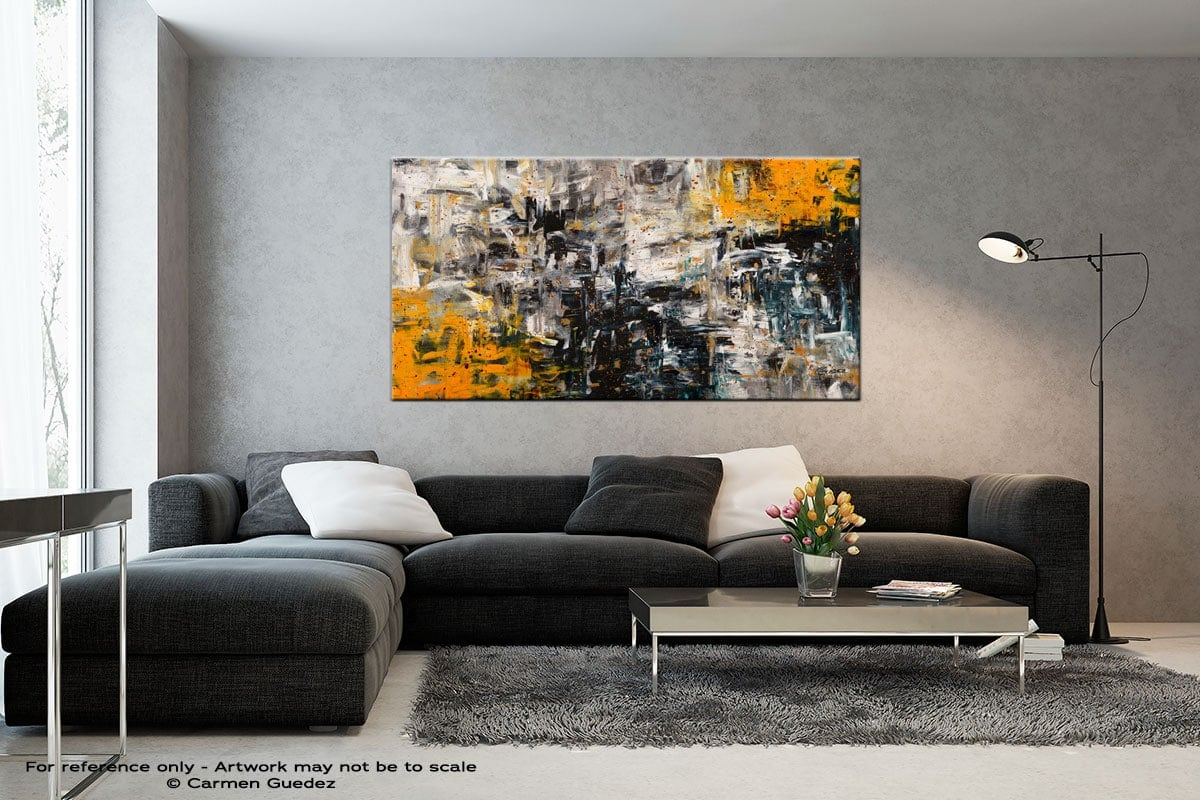 Progression Black And White Abstract Art Living Room Id2