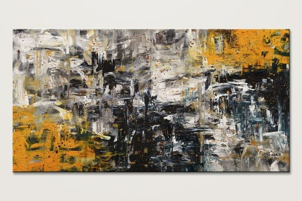 Progression Oversized Textured Abstract Art Id80