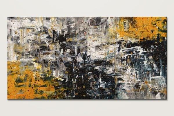 Progression Oversized Textured Abstract Art Id80