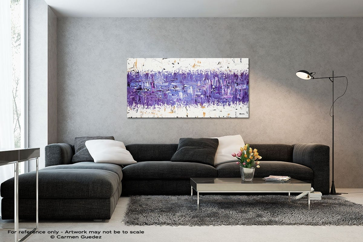 Purple Story Black And White Wall Abstract Art Painting Id70