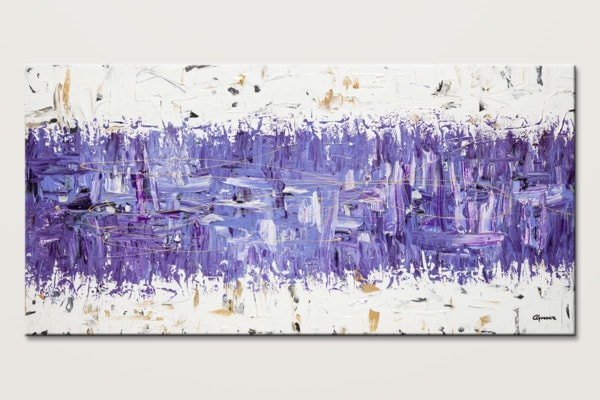 Purple Story Modern Abstract Wall Art Id80
