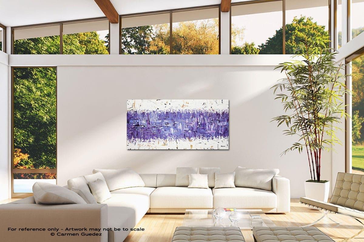 Purple Story Modern Canvas Abstract Art Id38