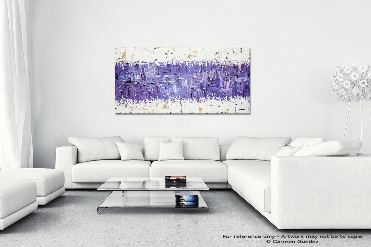 Purple Story Wall Art Canvas Painting Id40