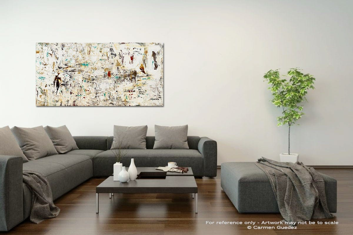 Quest Acrylic Gray Wall Art Painting Id34