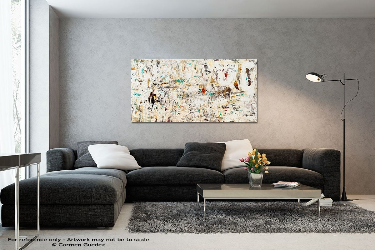 Quest Black And White Wall Abstract Art Painting Id70
