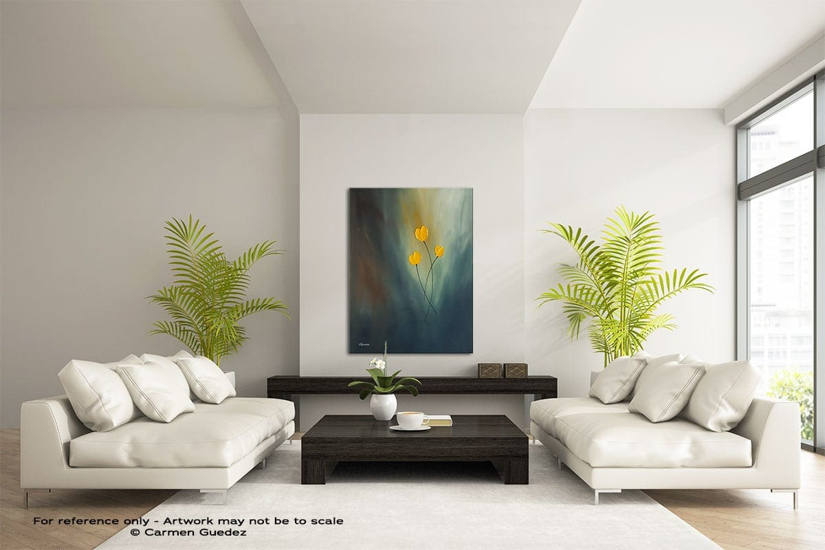 Rays Of Hope Vertical Abstract Wall Art Painting Id57
