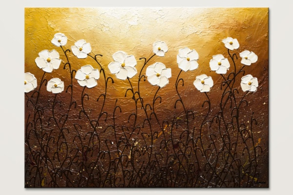 Rays Of Life Sunset Abstract Art Painting Id80