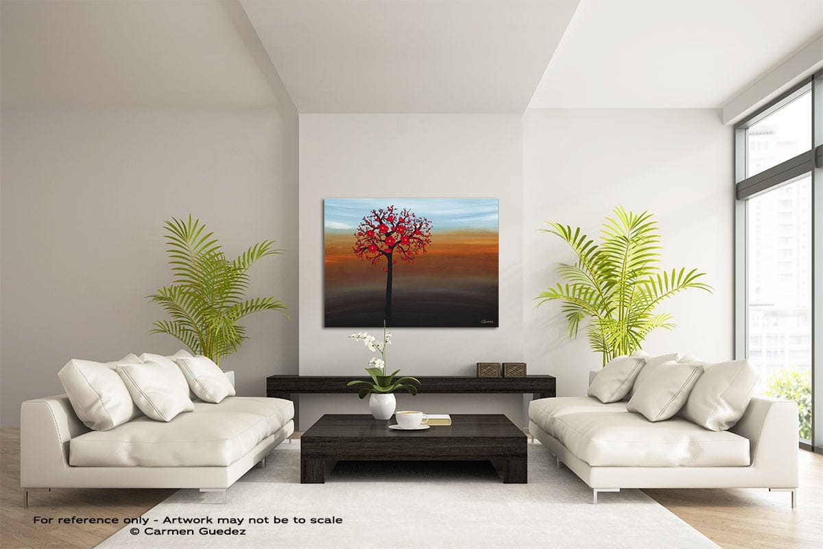 Rays Of Sunshine Large Modern Abstract Art Painting Id49