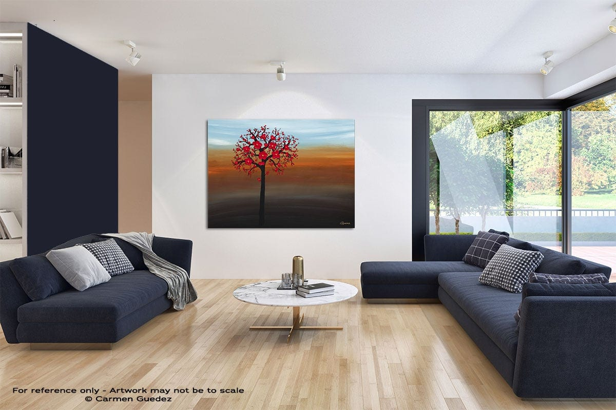 Rays Of Sunshine Modern Blue Abstract Painting Home Id50