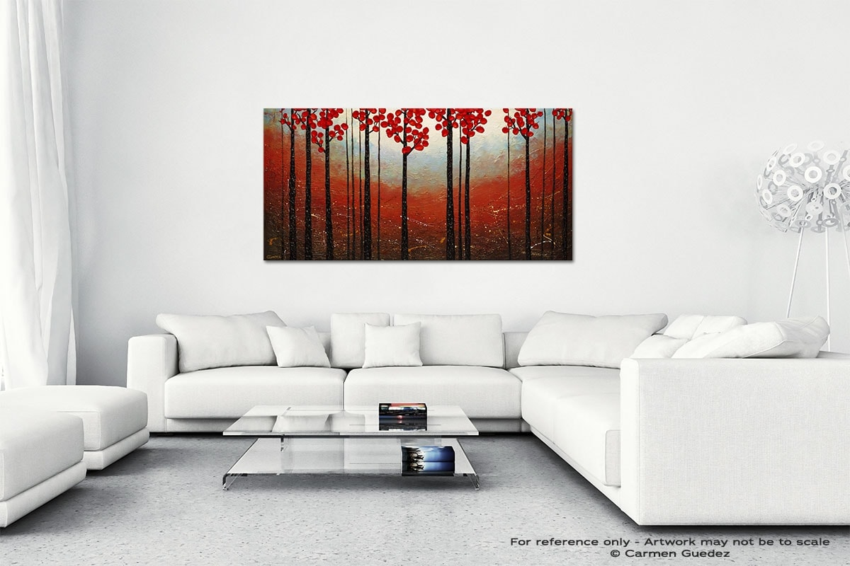 Red Blossom Wall Art Canvas Painting Id40
