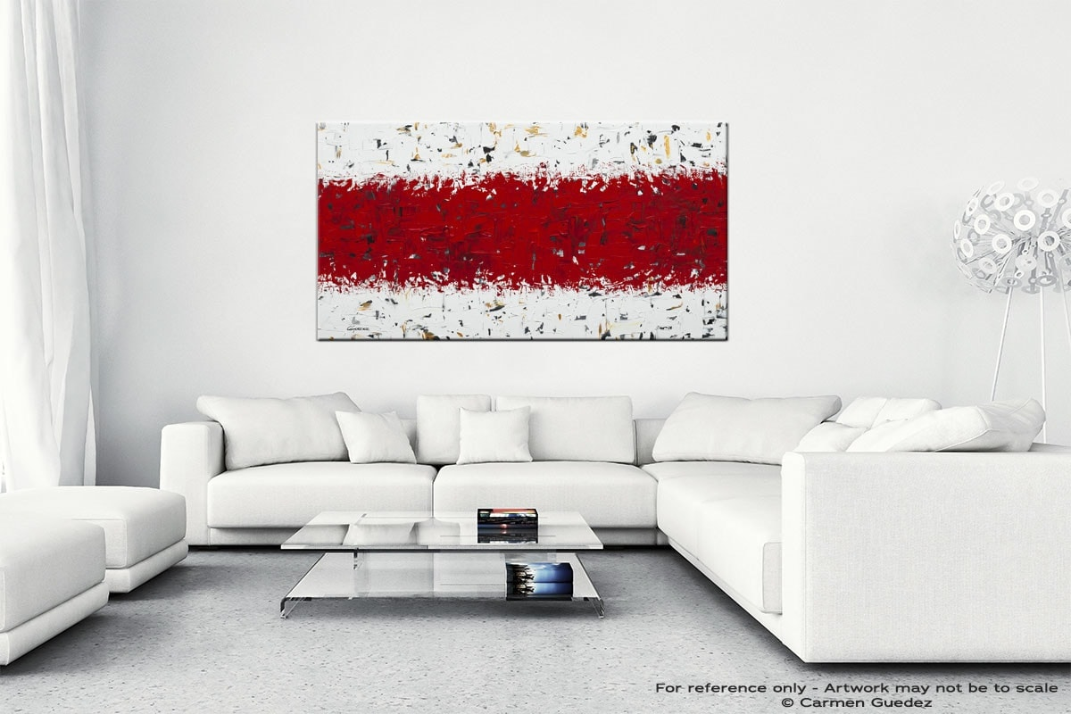 Red Hot Chilli Peppers Abstract Wall Art Painting On Canvas Id1