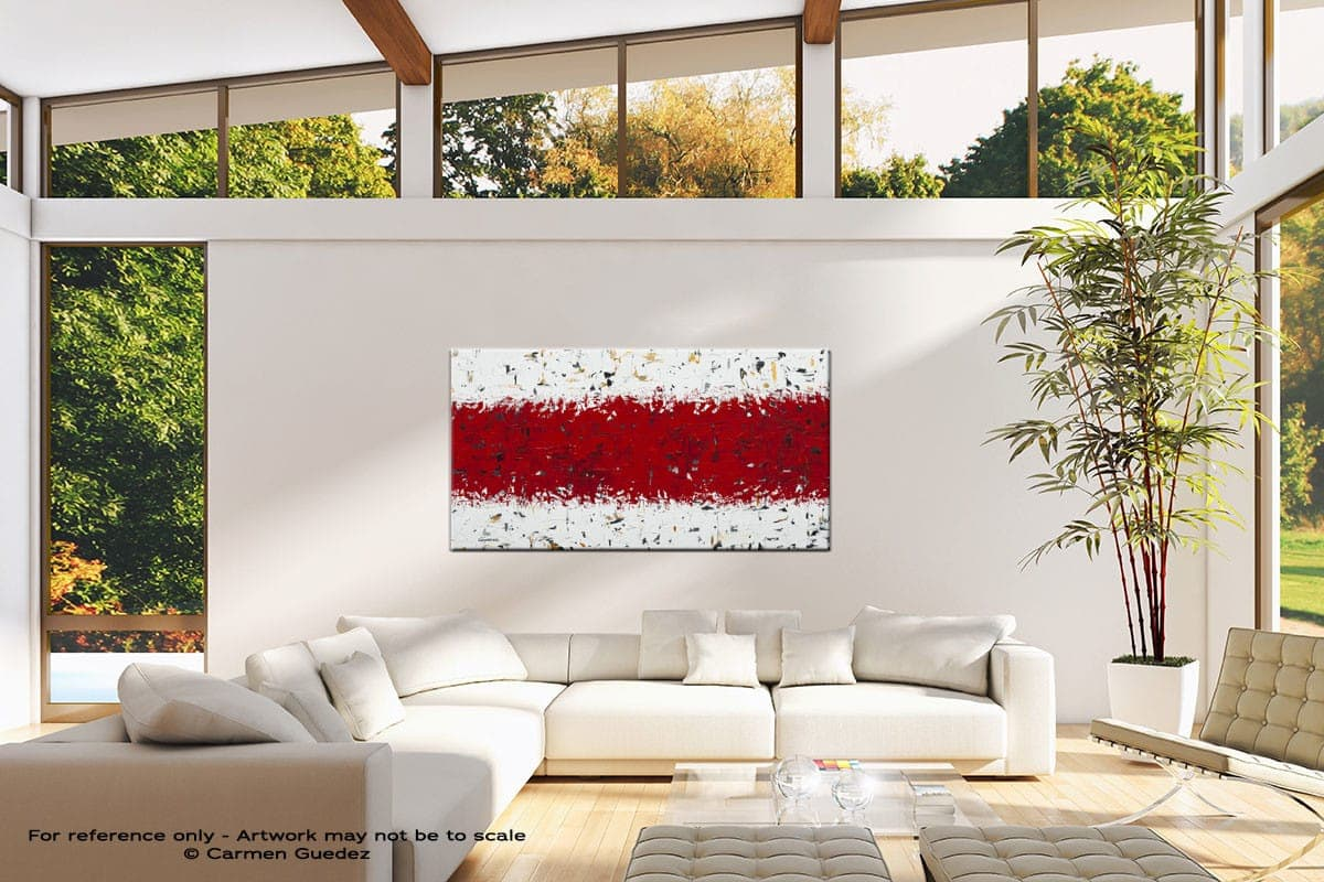 Red Hot Chilli Peppers Oversized Contemporary Abstract Wall Art Id10