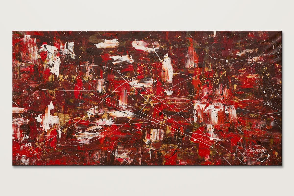 Red Matter - Abstract Art Painting Image by Carmen Guedez