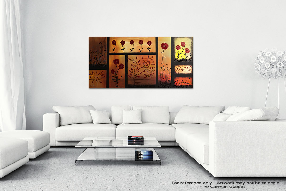 Red Poppies Wall Art Canvas Painting Id40